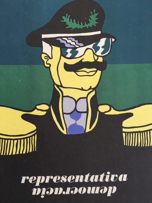 Democracia Representativa Original Vintage Poster