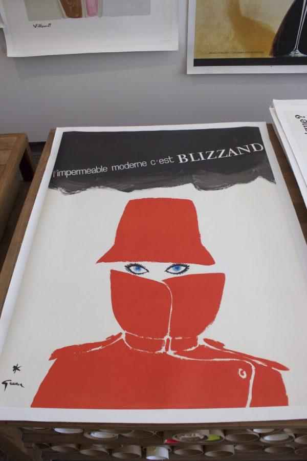 Original Vintage Poster Gruau Impermeable Moderne Blizzand Eyes
