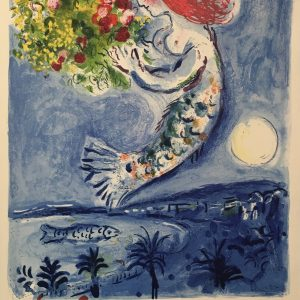 Nice Soleil Chagall Original Vintage Poster Letitia Morris Gallery
