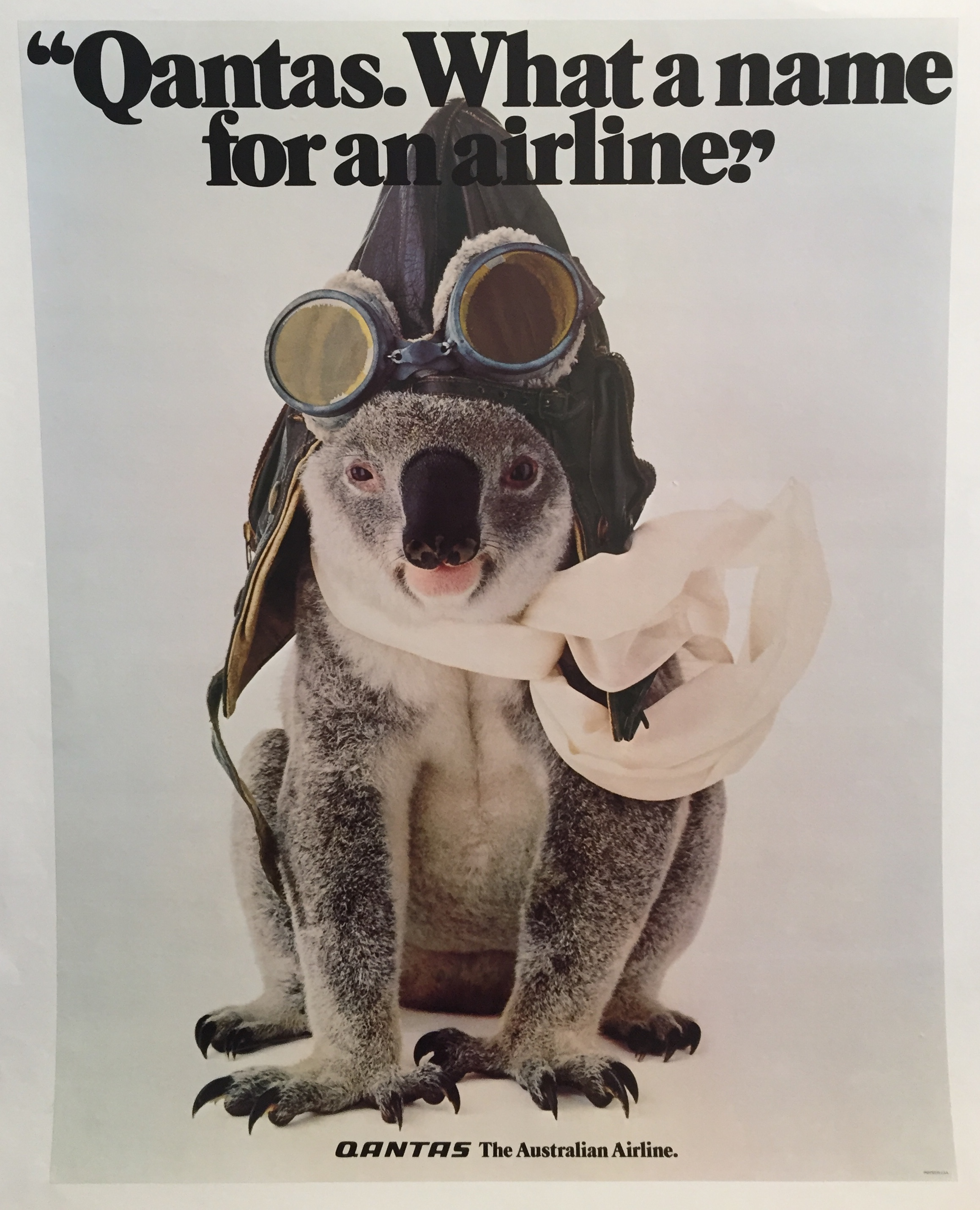 Qantas. What a name for an airline Original Vintage Poster