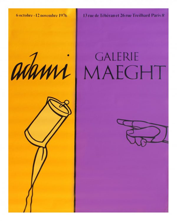 Adami Galerie Maeght 1976 Original Vintage Poster