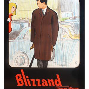 Blizzand Man by Rene Gruau Original Vintage Poster