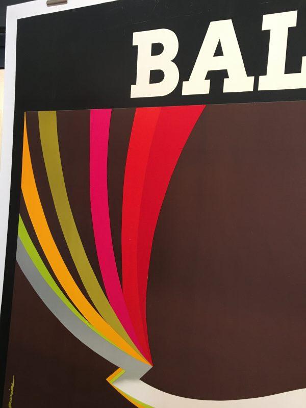 Bally Kinetic Man Original Vintage Poster