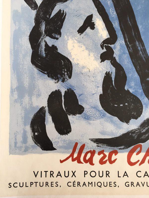 Marc Chagall Musee De Beaux-Arts Original Vintage Poster