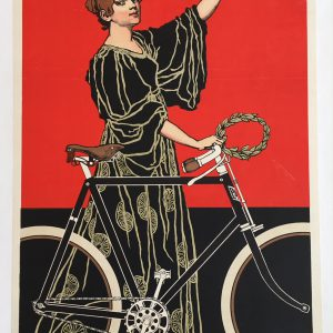 Patria Bicycle 1900's Original Vintage Poster Letitia Morris Gallery