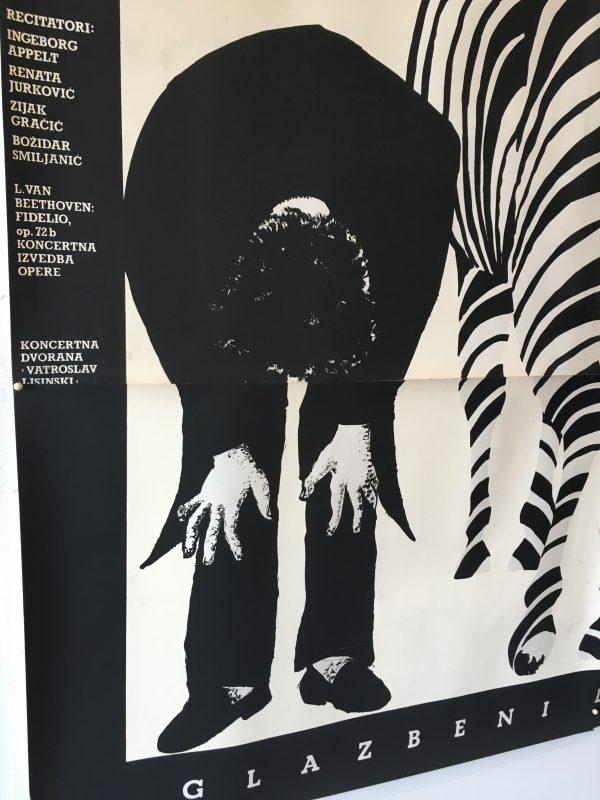 Boris Bucan Zabra Linsinski Original Vintage Poster