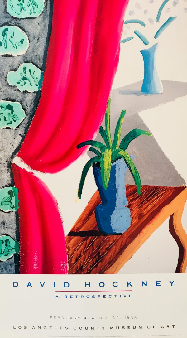 Still Life with Magenta Curtain David Hockney 1988