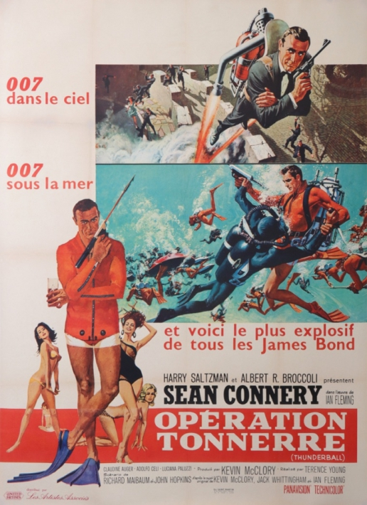 JAMES BOND original vintage poster operation tonnerre