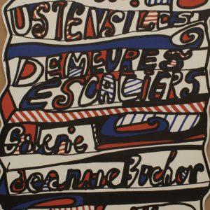 Jean Dubuffet Galerie Jeanne Bucher Original Vintage Poster