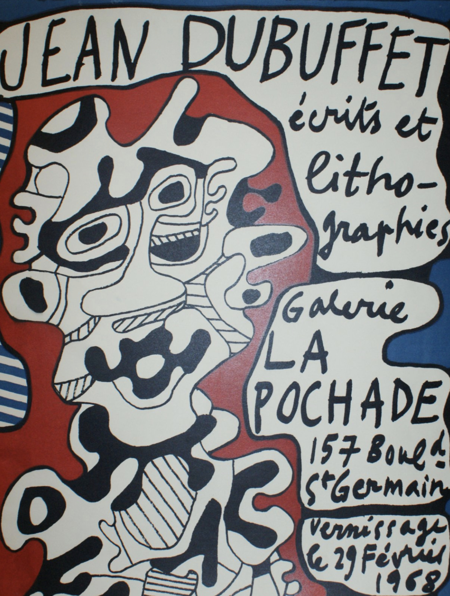 Jean Dubuffet GALERIE LA POCHADE Original Vintage Poster
