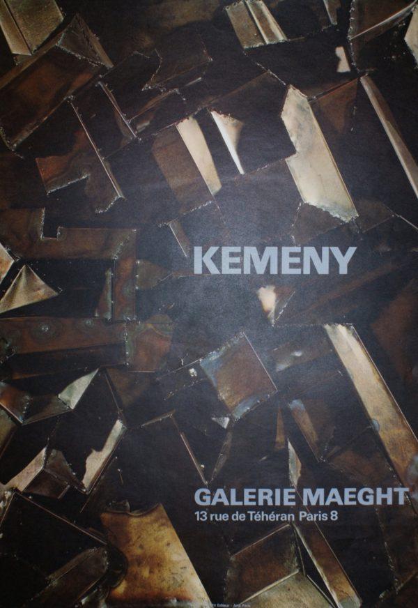 Zoltan Kemeny Galerie Maeght Original Vintage Poster