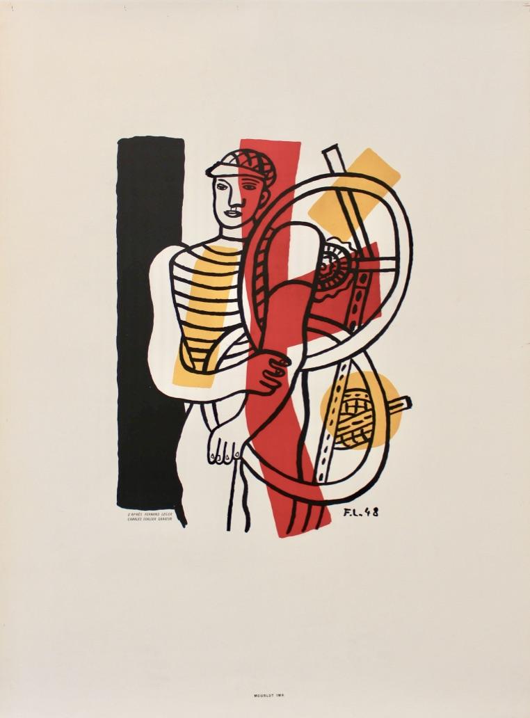 Fernand Leger Le Cycliste Original Vintage Poster