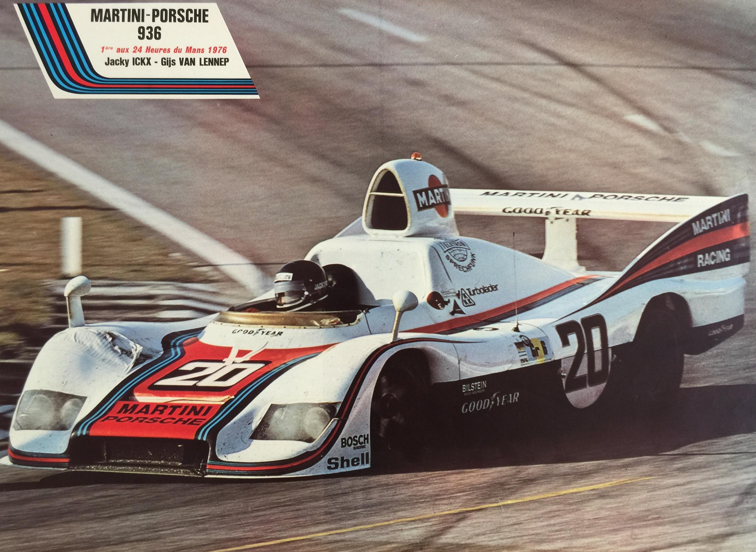 Martini-Porsche Jacky Ickx 1976 Original Vintage Poster