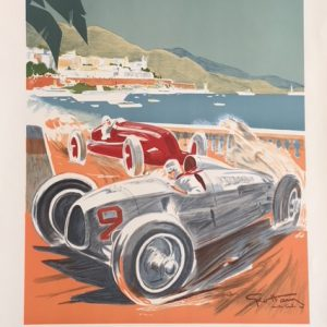 Original Vintage Poster Monaco Grand Prix Racing Geo Ham Formula1