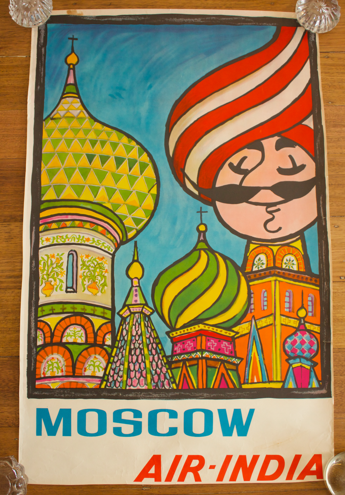 Mosow Air India vintage poster