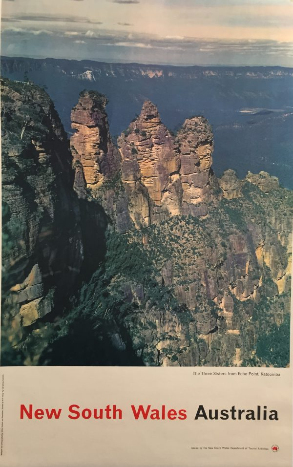 New South Wales Australia Original Vintage Poster