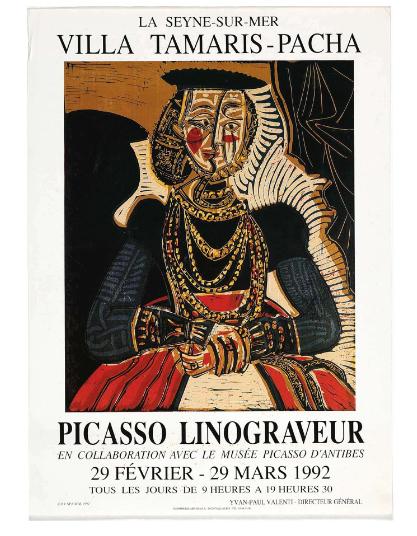 Picasso Linograveur 1992 Original Vintage Exhibition Poster