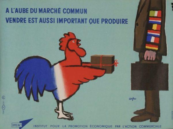 Beginnings of the Common Market by Savignac Original Vintage Poster