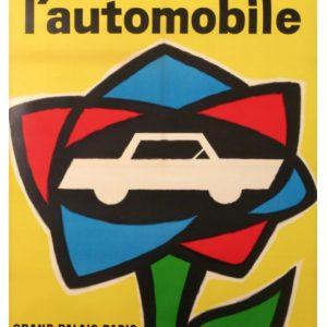 49 Salon De L'automobile Grand-Palais Paris Original Vintage Poster