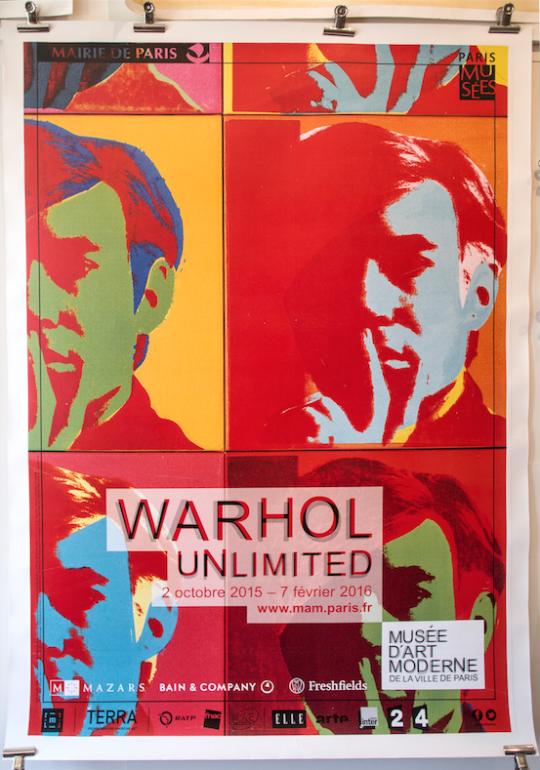 Warhol Unlimited Paris Exhibition 2016
