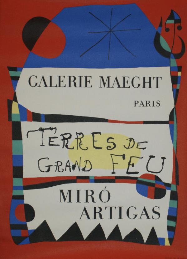 Miro Artigas Galerie Maeght Paris Original Vintage Poster