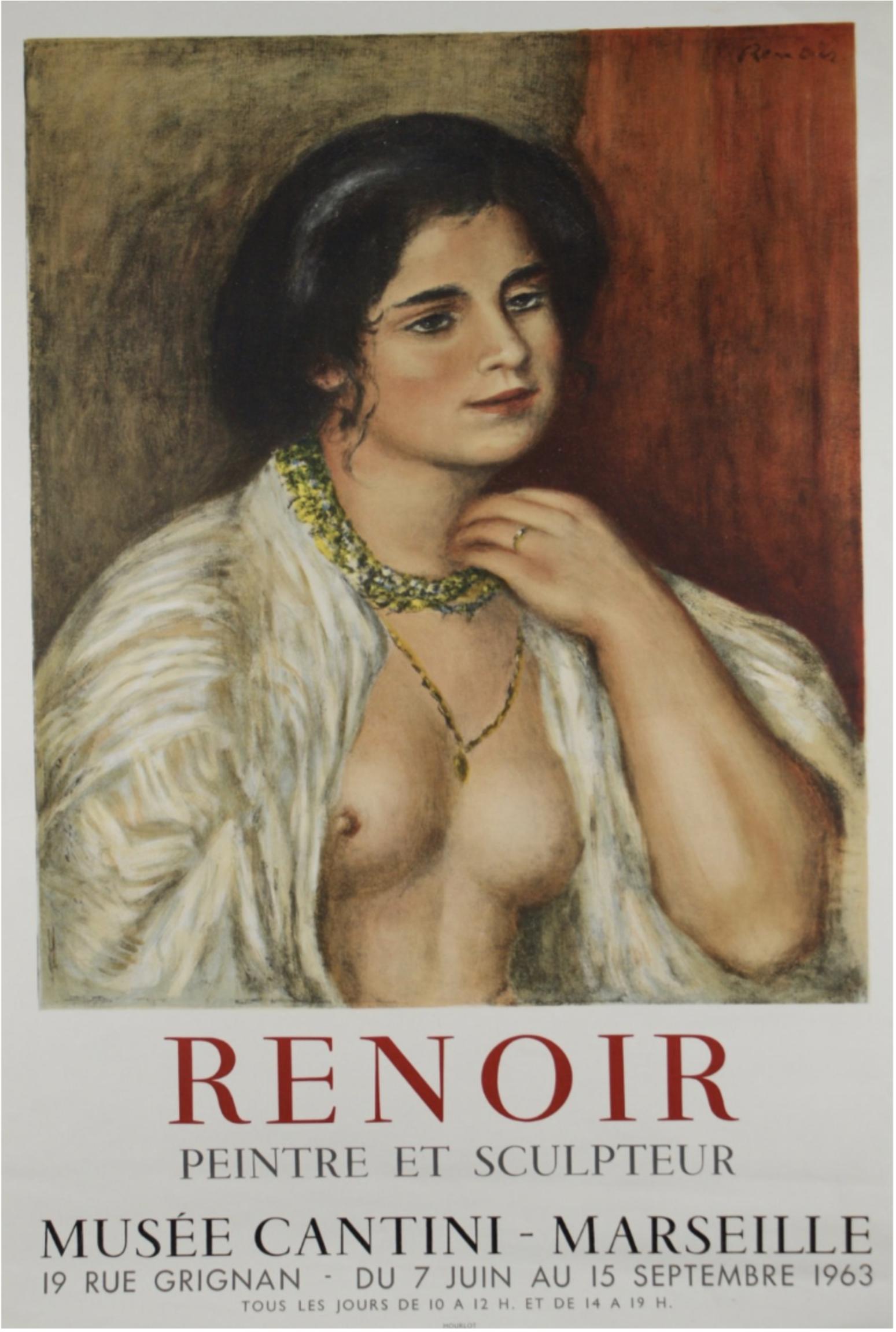 Renoir MUSÉE CANTIN Original Vintage Poster 1963
