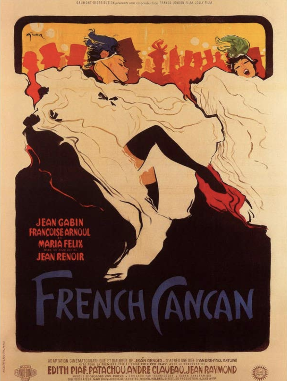 French Cancan Original Vintage Poster