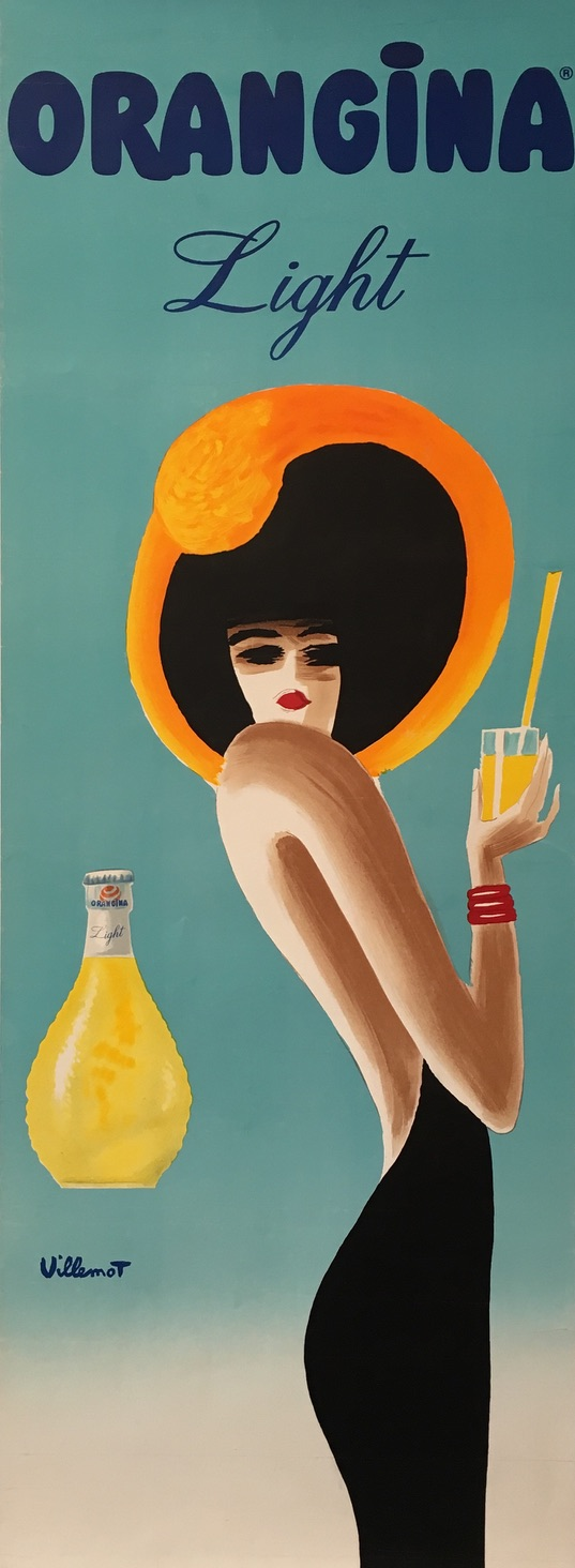 Orangina Light - Villemot Original Vintage Poster