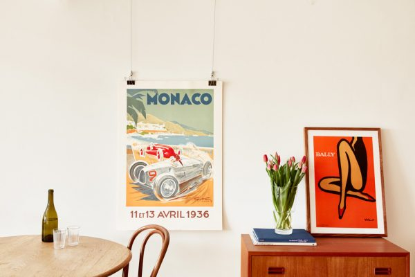 bally orange vintage poster