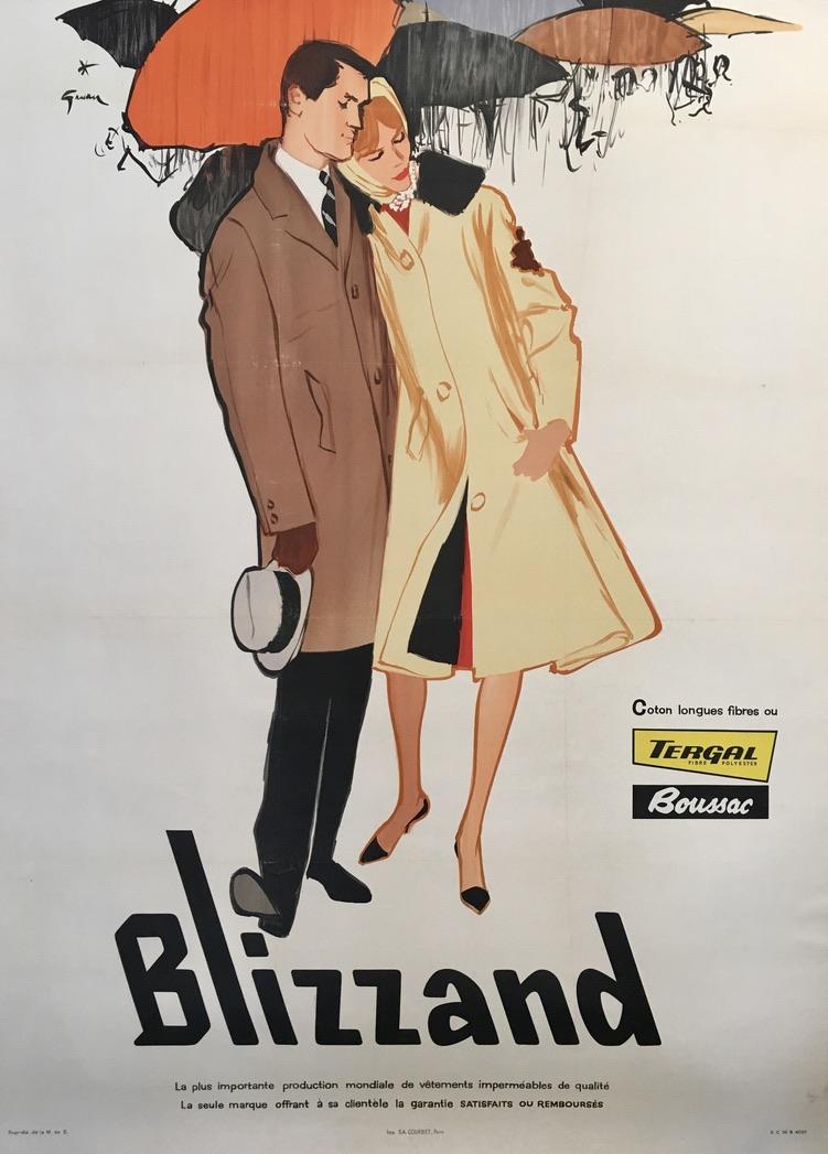 Gruau Blizzand tergal boussac Original Vintage Poster