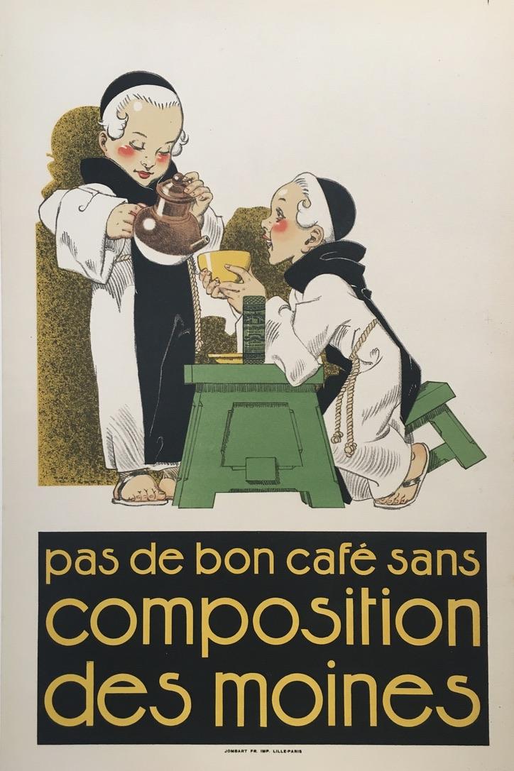 Pas De Bon Cafe Sans Composition Des Moines Original Vintage Poster