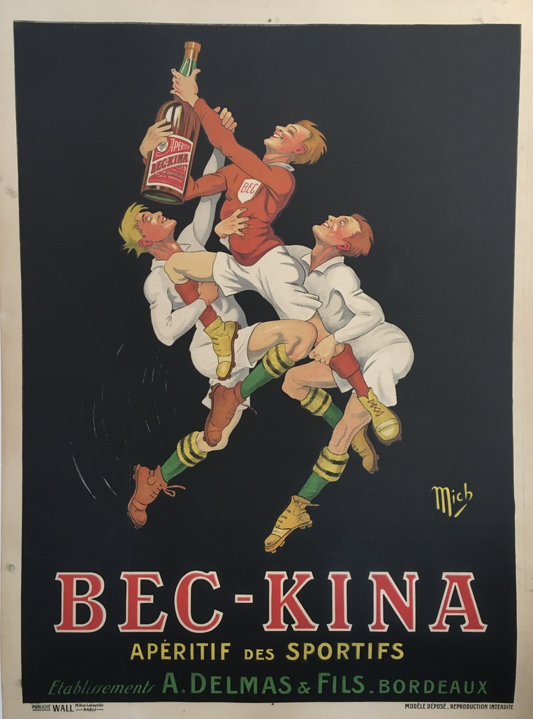 Bec Kina 1910 Original Vintage Poster