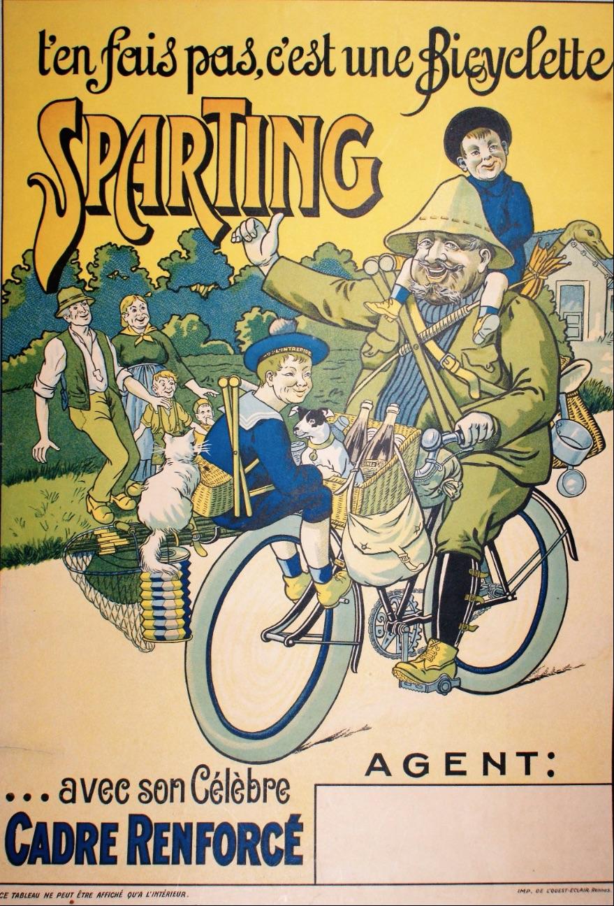 T'en fais pas, c'est une bicyclette Sparting Original Vintage Poster