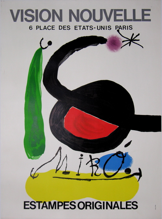 Antique vintage posters from MIRO Joan ( 1893 - 1983 )