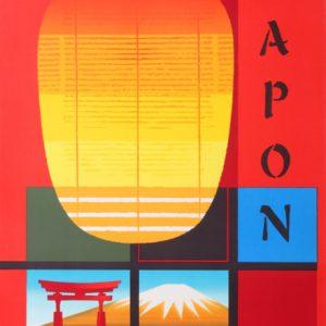 Villemot Air France Japon / Japan 1963 Original Vintage Poster