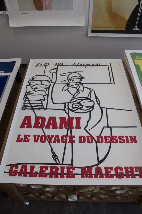 Galerie Maeght Adami Kiss Me Stupid original vintage poster