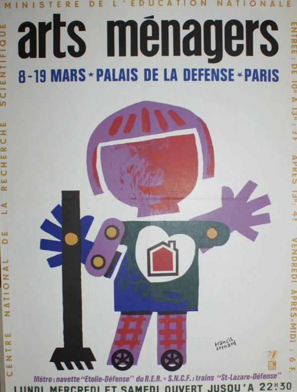 ARTS MÉNAGERS Palais De La Defence Original Vintage Poster