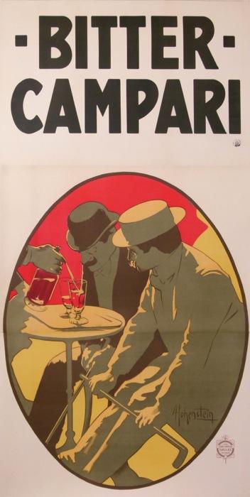 Bitter Campari Hohenstein Adolph 1910 Original Vintage Poster