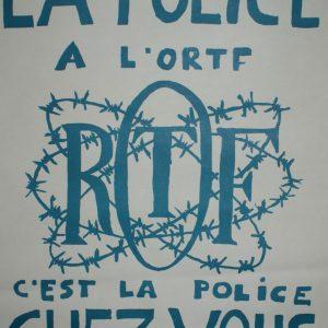 La Police À L'ortf C'est La Police Chez Vous 1968 Original Vintage Poster