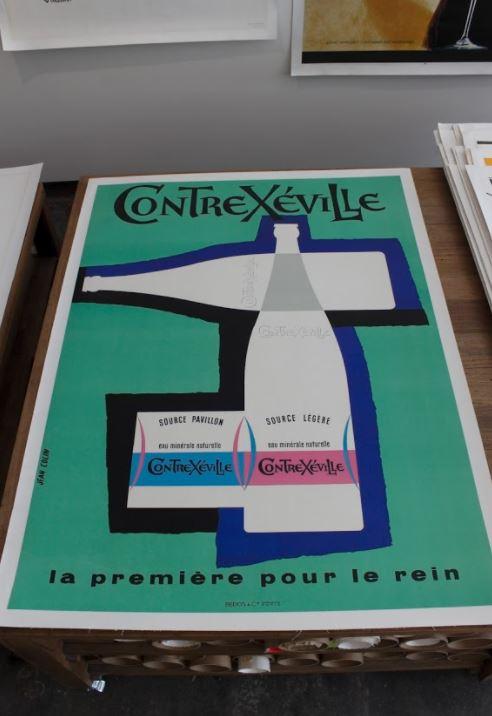 contrexville original vintage poster