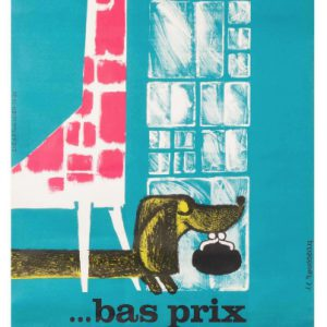 Bas prix by ROUSSEAU Original Vintage Poster