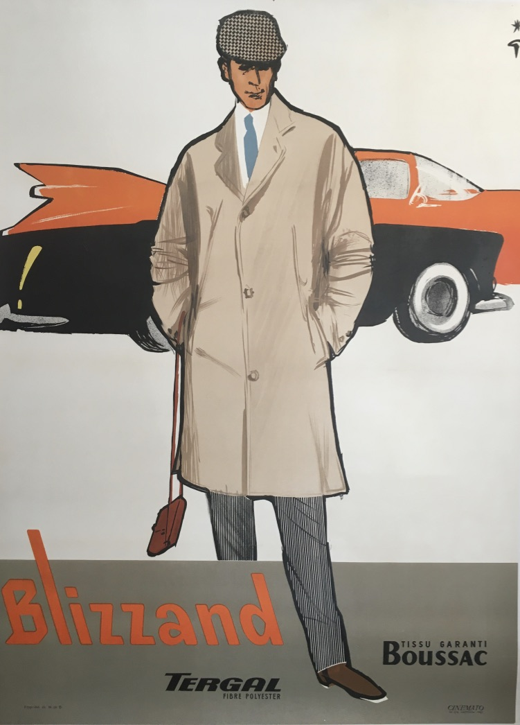 Blizzand Cadillac by Rene Gruau Original Vintage Poster