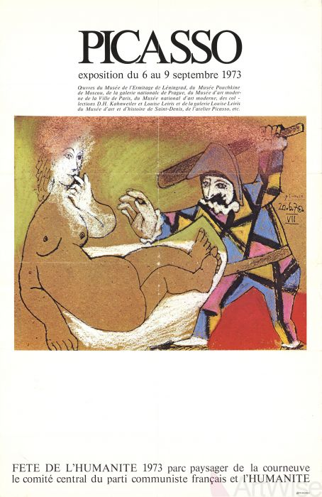Picasso Exposition Fête de l'Humanité 1973 Original Vintage Poster