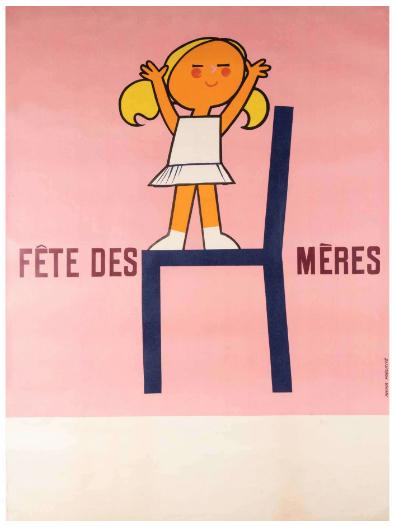 Fête de Mères Original Vintage Poster