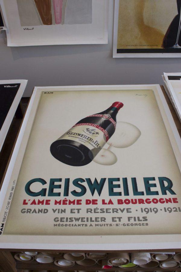 Geisweiler original vintage poster