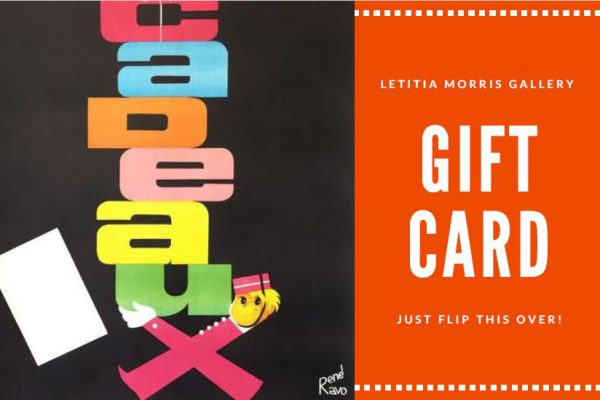 Give the gift of choice - Gift Card $500 Letitia Morris Vintage Posters