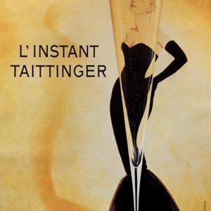 Original Vintage Poster L'instant Taittanger Grace Kelly