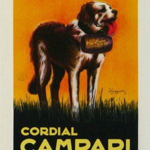 Campari Liquor Le Saint Bernard Leonetto Cappiello Original Poster
