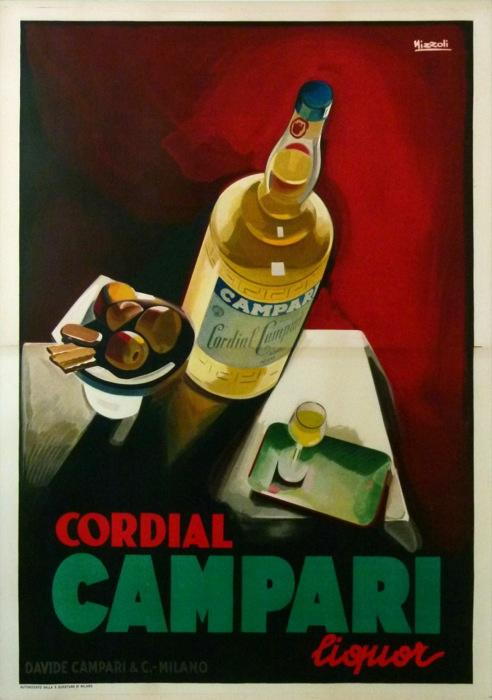 Cordial Campari Nizzoli 1927 Original Vintage Poster