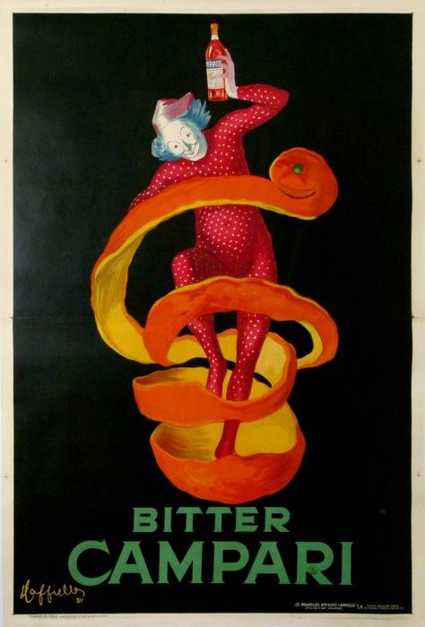 Campari Spiritello 1921 Oversize Original Vintage Poster